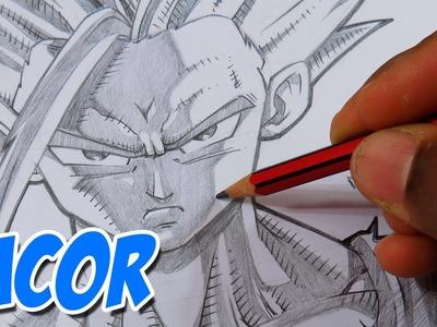 Como Dibujar a Gohan Super Sayayin 2 - Dragon Ball