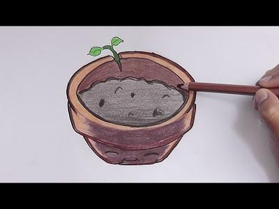 Como dibujar a Maceta (Plantas vs Zombies) - How to Draw a Pot