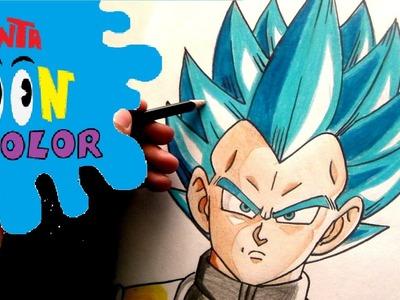 Como Dibujar a Vegeta SSJ Dios Azul PARTE 2-COMO COLOREARLO!