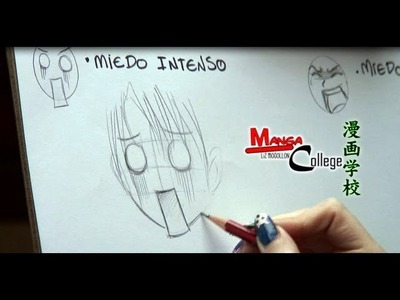Como dibujar Manga- Expresión facial  Miedo. How to draw Manga facial fear expression