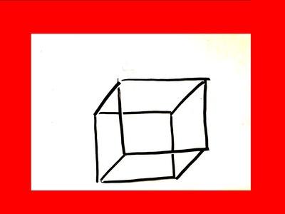 Cómo dibujar un cubo en 3d █ Cómo dibujar un cuadro en 3d. cuadrado paso a paso