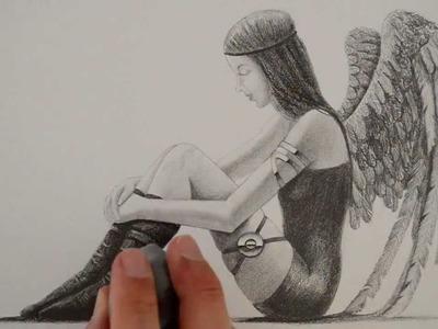 """Cómo dibujar un """"dark angel"""""""