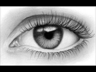Como dibujar un ojo realista ( Fácil )