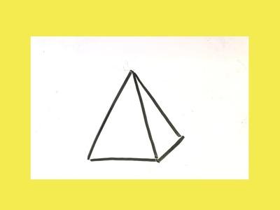 Cómo dibujar un triangulo en 3d █ paso a paso (fácil)