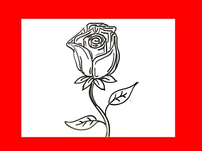 Cómo dibujar una rosa facil y bonita █ paso a paso - Cómo dibujar flores dibuja flor dibujo faciles