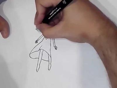 Como dibujar a Lapislazuli con su gema rota (Steven Universe)