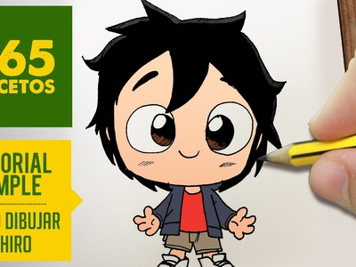 COMO DIBUJAR DE BIG HERO 6 A HIRO PASO A PASO - Kawaii facil - How to draw Hiro from Big Hero 6