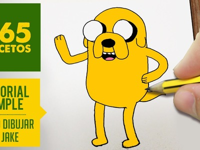 COMO DIBUJAR JAKE DE HORA DE AVENTURAS PASO A PASO - How to draw a Jake of Adventure Time
