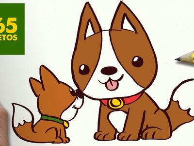COMO DIBUJAR PERRITOS KAWAII PASO A PASO: Os enseñamos a dibujar un perro fácil para niños