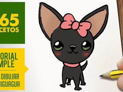 COMO DIBUJAR UN PERRO CHIHUAHUA PASO A PASO: Os enseñamos a dibujar un perro fácil para niños