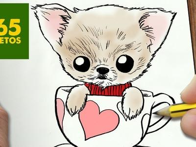 COMO DIBUJAR UN PERRO KAWAII PASO A PASO: Os enseñamos a dibujar un perro fácil para niños