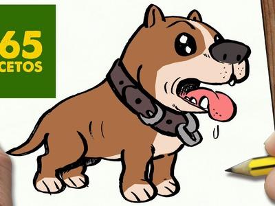 COMO DIBUJAR UN PERRO PITBULL PASO A PASO: Os enseñamos a dibujar un perro fácil para niños