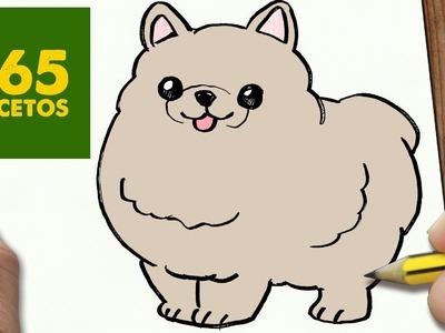 COMO DIBUJAR UN PERRO POMERANIA PASO A PASO: Os enseñamos a dibujar un perro fácil para niños