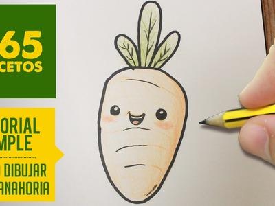 COMO DIBUJAR UN ZANAHORIA FACIL PASO A PASO KAWAII: Aprender a dibujar para niños y mayores