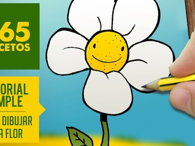COMO DIBUJAR UNA FLOR. How to draw a flower