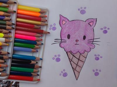 Dibuja un kitty Ice Cream Aprende a Dibujar Dibujin Dibujado
