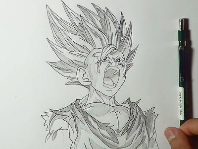 Dibujando a gohan triste La Muerte de N°16