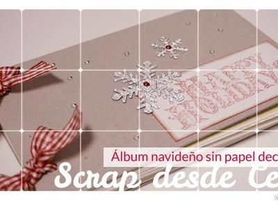 Scrap desde Cero.Tutorial Album sin papel decorado. Álbum fácil. Fondos y efectos con acuarelas.