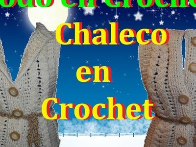 Chaleco en crochet Todas las tallas parte  3