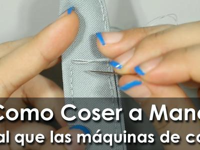 Como coser a mano como máquina de coser