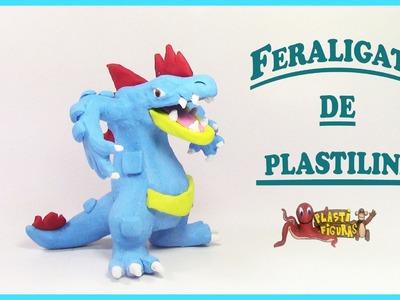 Como Hacer a Pokémon Feraligatr de Plastilina.Porcelana Fria.How to make Feraligatr with clay