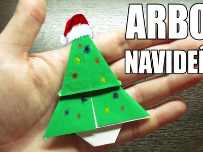 Como hacer un ARBOL DE NAVIDAD Super cool | Origami navideño (Muy fácil)