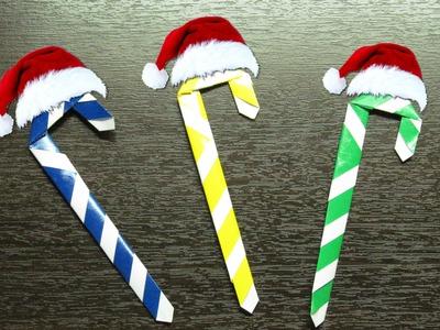 Como hacer un CARAMELO DE PAPEL para adornar tu hogar en navidad | ORIGAMI NAVIDEÑO