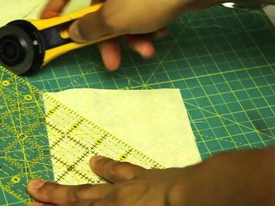 Como hacer un cuadrado de patchwork- Estrella de Amistad Block#4