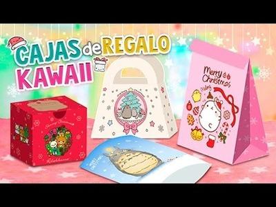 DIY KAWAII ☆ IDEAS DE CAJAS DE REGALO PARA NAVIDAD ☆ 4 FORMAS PARA ENVOLVER l Fabbi Lee