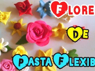 Flores de pasta flexible paso a paso (porcelana fría)