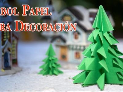 Arboles de Papel Origami Faciles, Baratos Para Decorar y Navidad