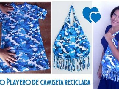 Bolso Playero - de Camiseta Reciclada - Tutorial de SANDRA PADILLA