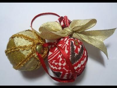 Como decorar tus propias esferas del arbol de navidad (Facil y Economico)