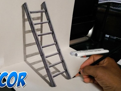 Como Dibujar una Escalera en 3D - Ilusión Optica