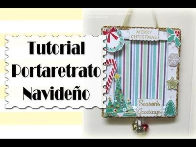 Cómo hacer Porta Retrato de cartón para Navidad | Tutorial DIY Reciclaje | Luisa PaperCrafts