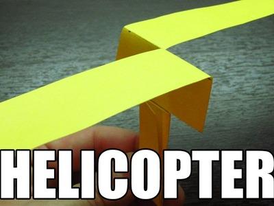 Como hacer un helicoptero de papel que vuela | Origami de papel paso a paso en español (Muy fácil)