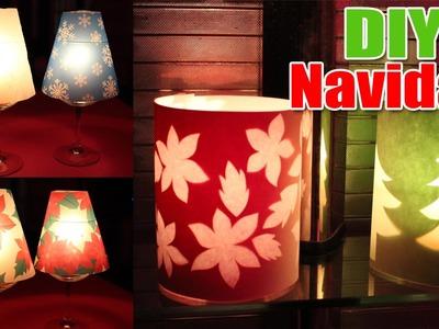 Ideas para decorar en Navidad | Pantallas para velas de papel