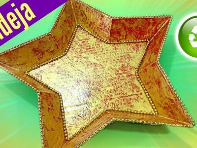 Manualidades Navidad: Bandeja estrella,. Star tray.