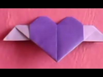 ORIGAMI - Cómo hacer un corazón con alas