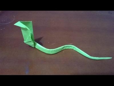 ORIGAMI: SERPIENTE DE PAPEL - origami snake
