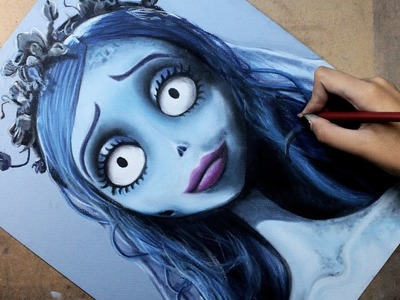 Speed Drawing: Emily (Corpse Bride.  El Cadáver de la Novia)   Diana Díaz
