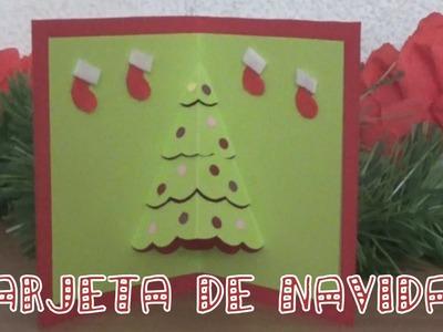 Tarjeta Arbolito de Navidad en 3D