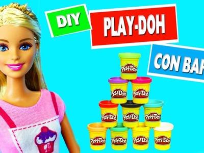 CÓMO HACER BOTES DE PLASTILINA PARA MUÑECAS - Haz Manualidades con Barbie