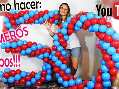 Como hacer NÚMEROS en GLOBOS!! Nro 5 y 0 - How to make numbers on balloons
