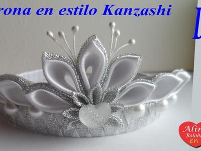 Corona de Año Nuevo en estilo Kanzashi ( para principiantes )
