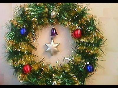 Manualidad de Navidad Corona de Navidad - Corona de Navidad para la puerta