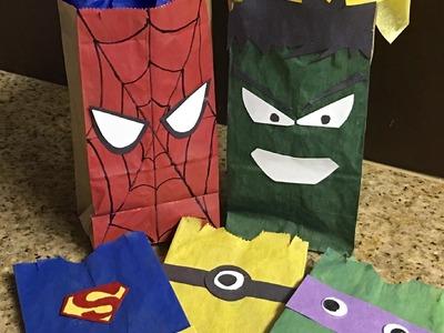Manualidades con bolsas de papel para los niños