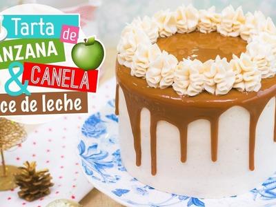 Tarta de manzana, canela y dulce de leche | Recetas navideñas | Quiero Cupcakes!