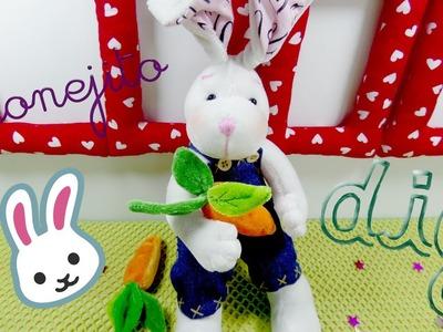 Como hacer peluche de conejo | How to make stuffed rabbit -Loou