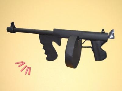 Como hacer Pistola de Papel que Dispare | Thompson M1| Armas Caseras Fáciles